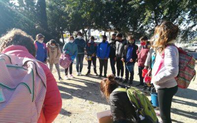 El taller de plantació de vegetació autòctona del programa europeu BRIDGES promou la convivència intercultural mitjançant la pedagogia mediambiental